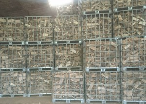 Seasoned firewood ready for delivery in Wales